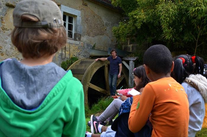 Scolaire au moulin de Vanneau