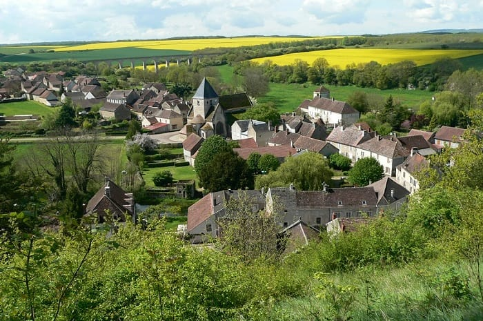 Village de Druyes-les-Belles-Fontaines, Bourgogne Franche-Comté, Yonne