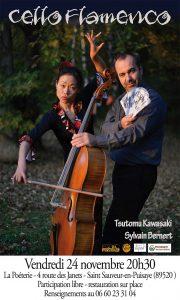 Concert Cello Flamenco @ La Poèterie  | Saint-Sauveur-en-Puisaye | Bourgogne Franche-Comté | France