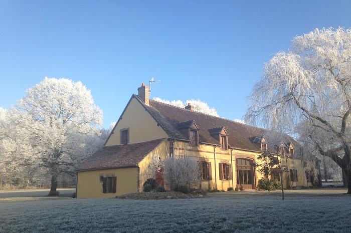 Le Hameau de la Fausse Sauge vu en hiver