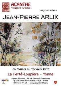 Exposition Espace Acanthe : Jean-Pierre Arlix, aquareliste @ Espace Acanthe  | La Ferté-Loupière | Bourgogne Franche-Comté | France