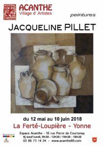 Exposition Espace Acanthe : Jacqueline PILLET, Peintre @ Espace Acanthe  | La Ferté-Loupière | Bourgogne Franche-Comté | France