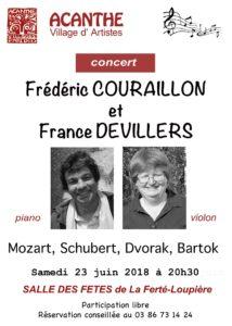 Concert de France DEVILLERS et Frédéric COURAILLON @ Salle des fêtes de la Ferté Loupière