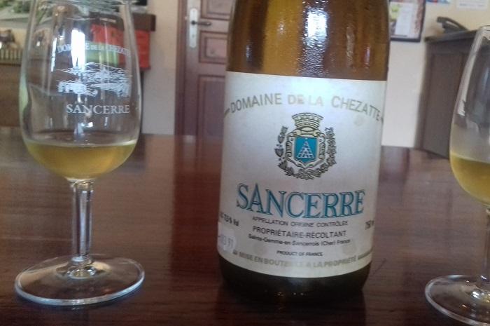 2 verres de Sancerre 1990