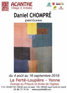 Daniel Chompré, Peintre (1943 - 2017) @ Grange du Prieuré