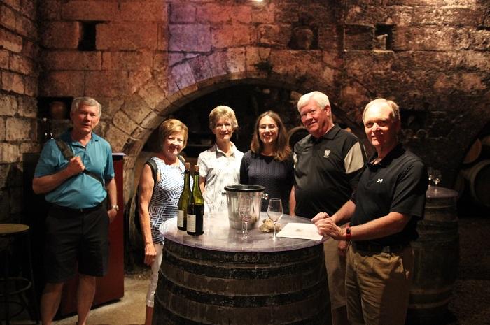 tasting in the cellars St Bris
