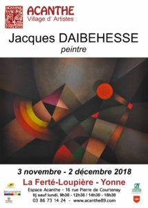 Exposition Jacques DAIBEHESSE à Acanthe @ Galerie Espace Acanthe