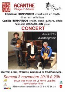 Concert à Acanthe @ Acanthe Village d'Artistes