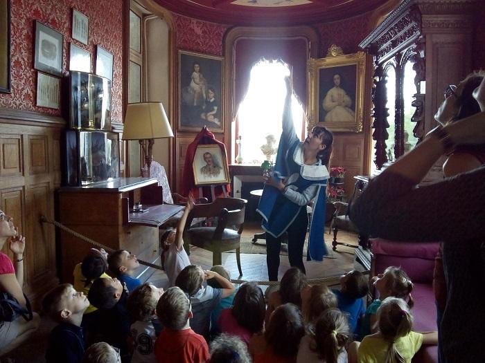 visite enfant Château de la Bussière
