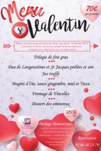Menu Saint-Valentin au Moulin de la Coudre @ Moulin de la Coudre