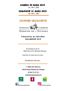Journée Découverte au Domaine de l'Epineau @ Domaine de l'Epineau