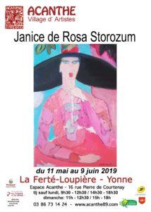 Exposition Espace Acanthe Janice de ROSA-STOROZUM @ Galerie Espace Acanthe