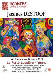 Exposition à l'Espace Acanthe - Jacques DESTOOP @ Galerie Espace Acanthe